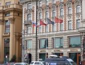 Флаги и флагштоки у гостиницы Националь