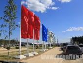 Уличные флагштоки из стекловолокна с флагами расцвечивания без символики