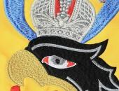 Штандарт имперский дворцовый, фрагмент голова орла