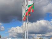 Флаги вертикальные фирменные на АЗС