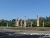 Алюминиевые мачты с флагами с праздничной символикой