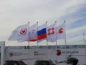 Флаги произвольного дизайна на мачтах-флагштоках для авиа-космического салона МАКС-2011