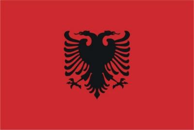 Флаг страны Албания