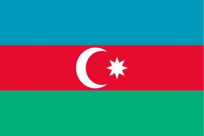 Флаг страны Азербайджан