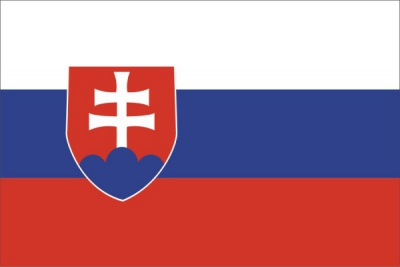 Флаг страны Словакия