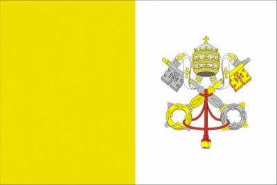 Флаг страны Ватикан