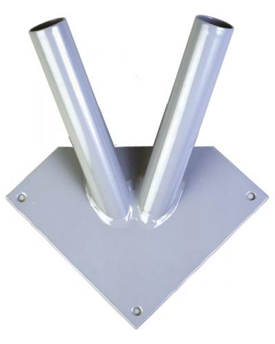 Кронштейн настенный для флагов двойной сталь
