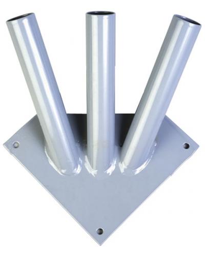 Кронштейн настенный для флагов тройной сталь