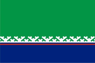 Флаг района Ханты-Мансийский ХМАО