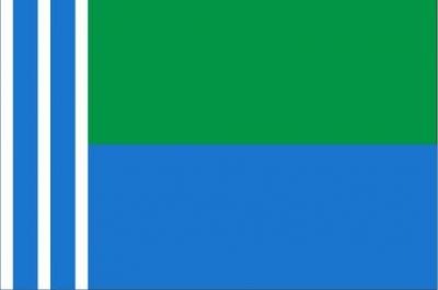 Флаг города Когалым ХМАО