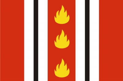 Флаг города Колпино Санкт-Петербург