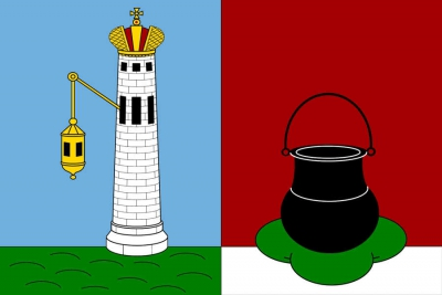 Флаг города Кронштадт Ленинградской области