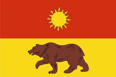Флаг района Южное Медведково города Москвы