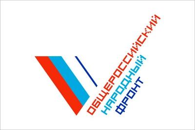 Флаг ОНФ Общероссийского народного фронта