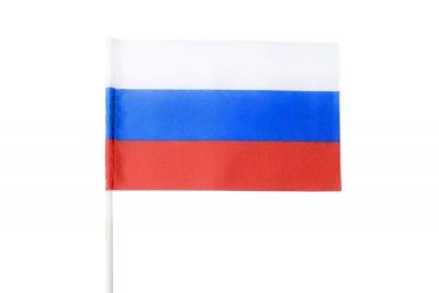Флаг страны Россия для древко трубочка