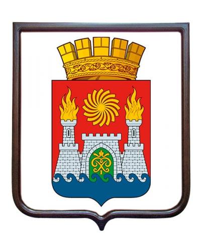 Герб города Махачкалы (гербовое панно, средний герб)