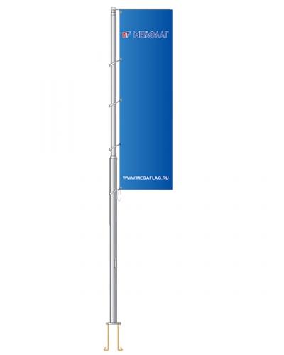 Флагшток уличный «Баннер-бар» алюминий 6 метров