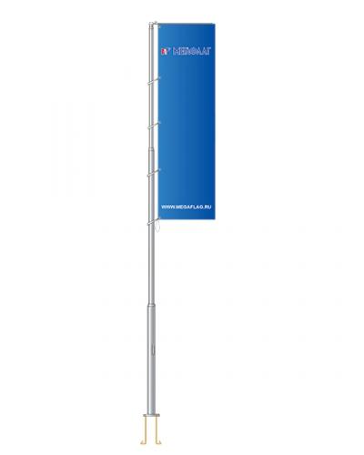 Флагшток уличный «Баннер-бар» алюминий 9 метров