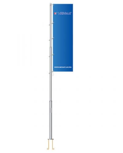 Флагшток уличный «антивандальный» алюминий 8 метров