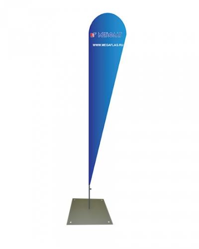 Мобильный флагшток Крыло с основанием Квадрат