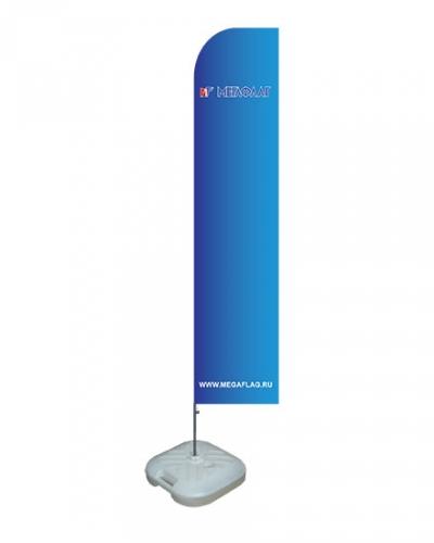 Мобильный флагшток Парус с наливным основанием