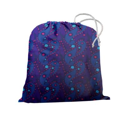 Сумка для чехла на чемодан синий с красно-голубым рисунком