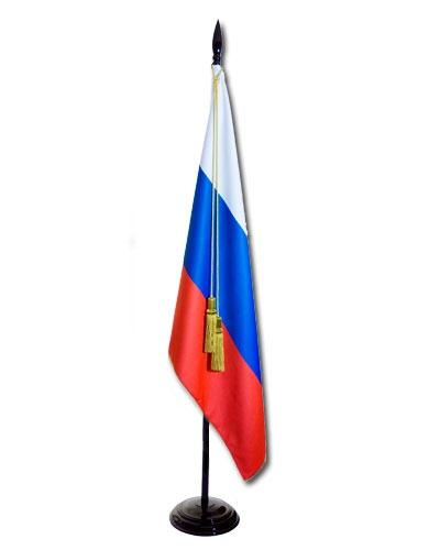 Флаг России на офисном флагштоке