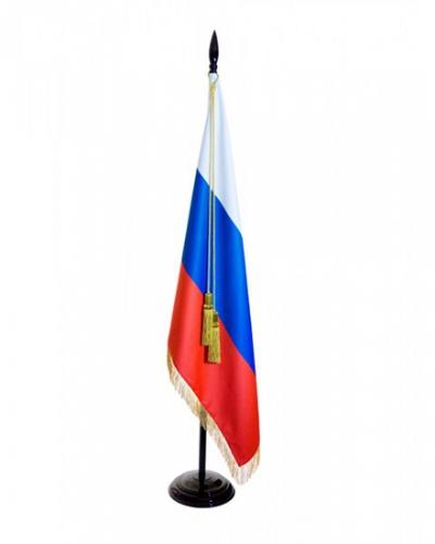 Флаг страны Россия с бахромой сатен Т902