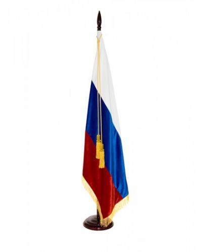 Флаг страны Россия с бахромой бархат Т602