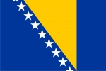 Флаг страны Босния и Герцеговина