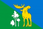 Флаг района Лосиноостровский города Москвы