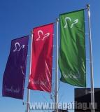 Флаги произвольного дизайна на мачтах флагштоках с баннерным плечом