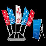 Декоративные конструкции с флагами