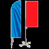 Мобильные флагштоки Парус