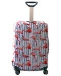 Чехол на чемодан Фламинго светлый