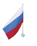 Флаг России на настенном кронштейне