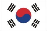 Флаг страны Республика Корея (Южная корея)