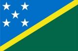 Флаг страны Соломоновы острова