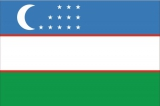 Флаг страны Узбекистан