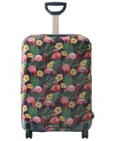 Чехол на чемодан Фламинго темный