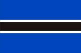 Флаг страны Ботсвана