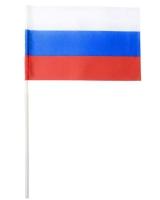 Флаг РФ с древком трубочка 40см