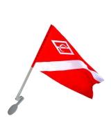 Флаг Спартака на автомобиль с кронштейном