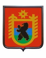 Герб республики Карелии (гербовое панно)