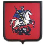Герб Москвы печатный на сатене щит дерево