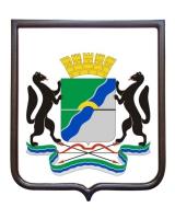 Герб города РФ Новосибирск (гербовое панно)