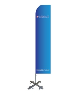 Мобильный флагшток Парус с основанием Крест
