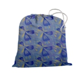 Сумка для чехла на чемодан голубой с сине-желтым рисунком