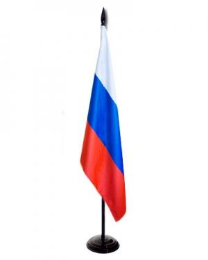 Флаг России на напольном флагштоке